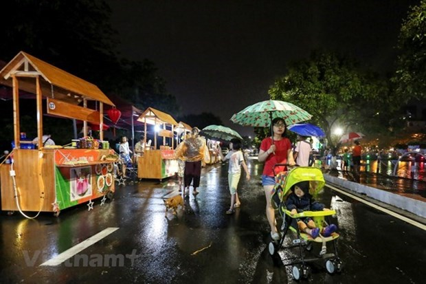 Abren en Hanoi segunda ruta peatonal los fines de semana hinh anh 1