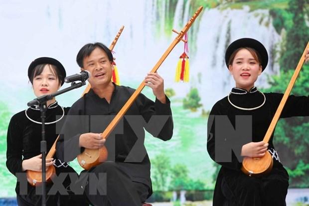 Diversas actividades artisticas durante sexto Festival de Canto Then en Ha Giang hinh anh 1