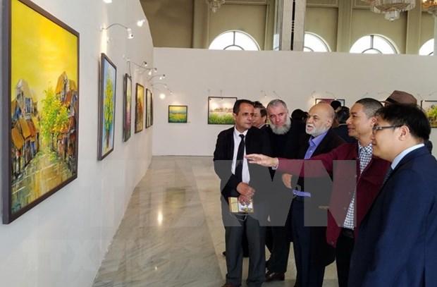 Cuadros pintados al oleo de Vietnam captan mirada del publico en Argelia hinh anh 1