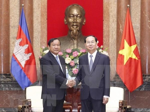 Presidente de Vietnam destaca cooperacion con Camboya hinh anh 1