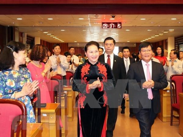 Presidenta del Parlamento vietnamita exhorta a estimular el desarrollo del contingente de cientificos hinh anh 1