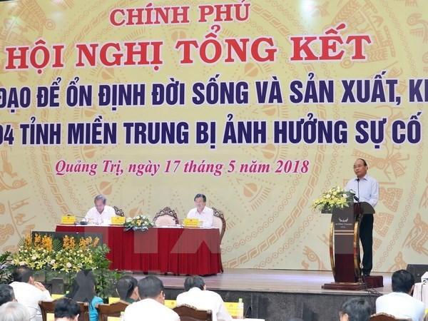 Solucion de incidente ambiental de Formosa es leccion para localidades, afirma premier vietnamita hinh anh 1