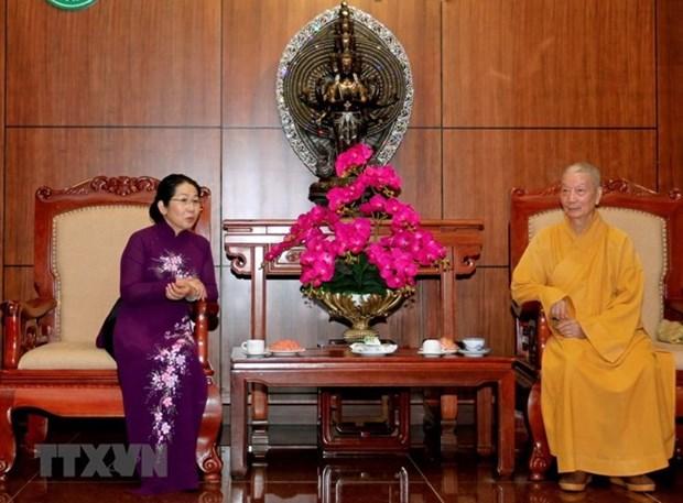 Ciudad Ho Chi Minh aprecia aportes de seguidores budistas municipales hinh anh 1