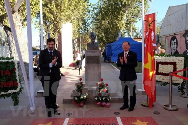 Conmemoran en Chile aniversario 128 del natalicio de Presidente Ho Chi Minh hinh anh 1