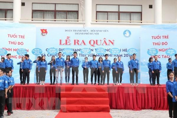 Jovenes de Vietnam asisten a campana de voluntarios de verano hinh anh 1