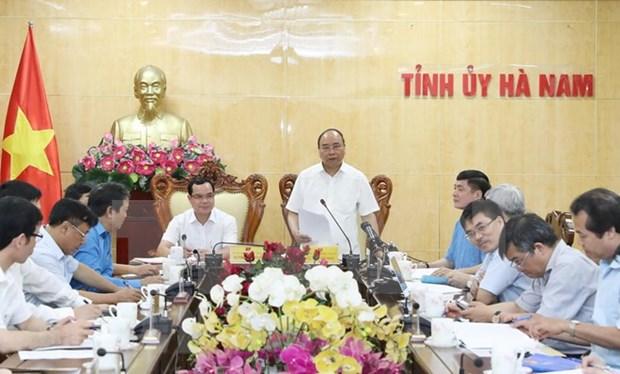Premier Xuan Phuc elogia avances socioeconomicos de Ha Nam hinh anh 1