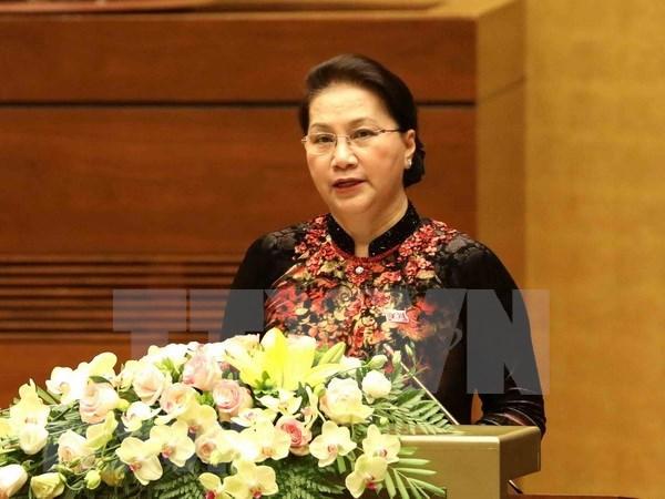 Parlamento de Vietnam concluye intensa agenda de primera jornada de su quinto periodo de sesiones hinh anh 1