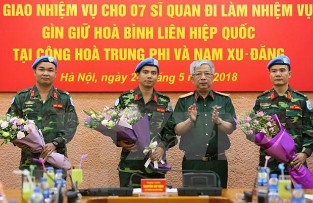 Vietnam enviara oficiales de mantenimiento de la paz a Africa hinh anh 1