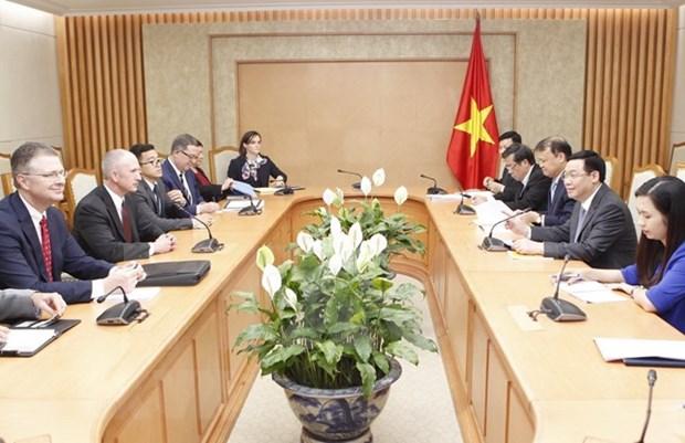 Economia, uno de los pilares de la cooperacion Vietnam- EE.UU. hinh anh 1