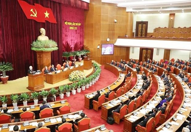 Emiten resolucion del septimo pleno del organo rector de PCV sobre politicas de salario hinh anh 1