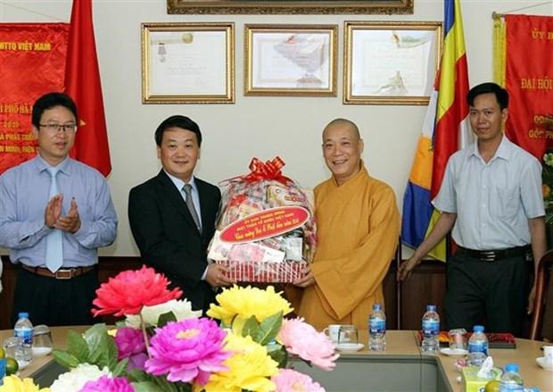Sangha Budista de Vietnam, puente entre el Partido y Estado con monjes y fieles hinh anh 1