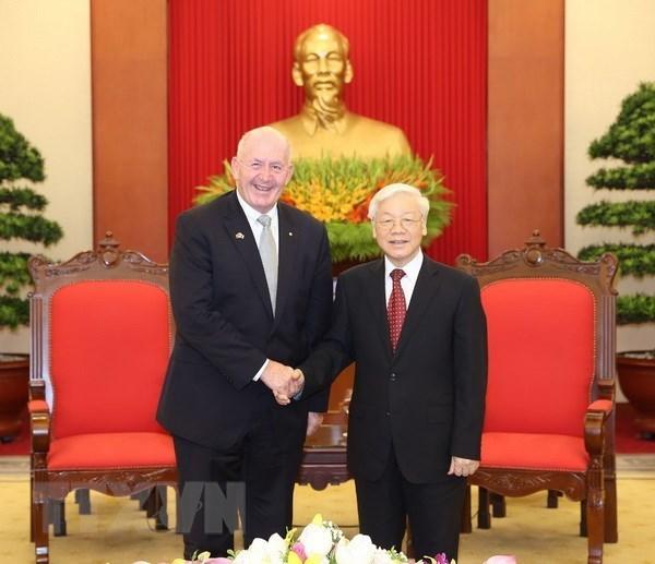 Maximo lider politico de Vietnam respalda rol de Australia en Asia- Pacifico hinh anh 1