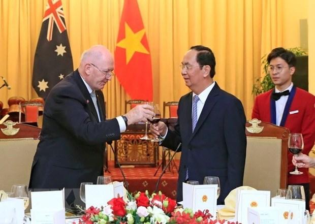 Presidente Tran Dai Quang: Vietnam orgulloso de tener un amigo como Australia hinh anh 1