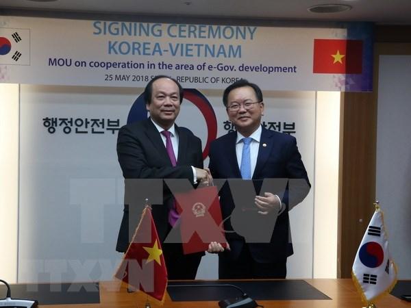 Vietnam y Sudcorea cooperan en construccion del gobierno electronico hinh anh 1