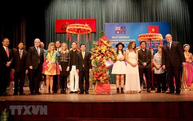 Celebran aniversario de lazos diplomaticos Vietnam - Australia en Ciudad Ho Chi Minh hinh anh 1