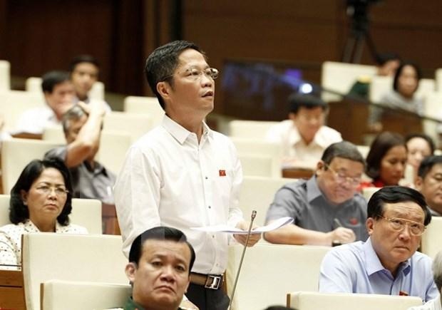 Parlamento de Vietnam continua debates sobre asuntos socioeconomicos hinh anh 1