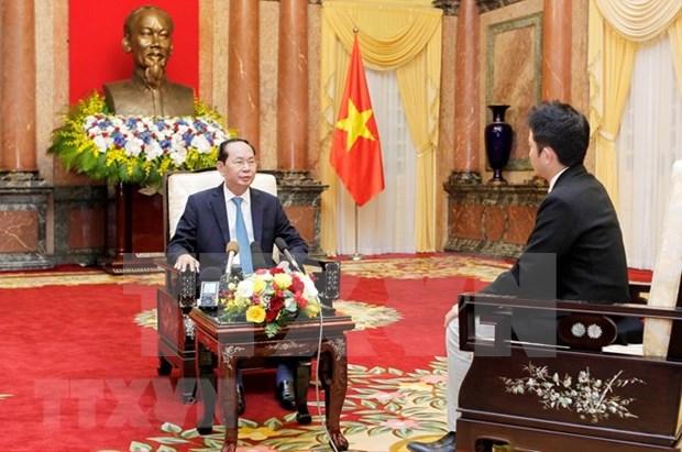 Presidente de Vietnam destaca relaciones con Japon hinh anh 1