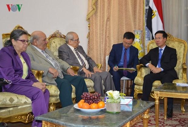 Vietnam y Egipto se proponen agilizar lazos partidistas y multifaceticos hinh anh 1