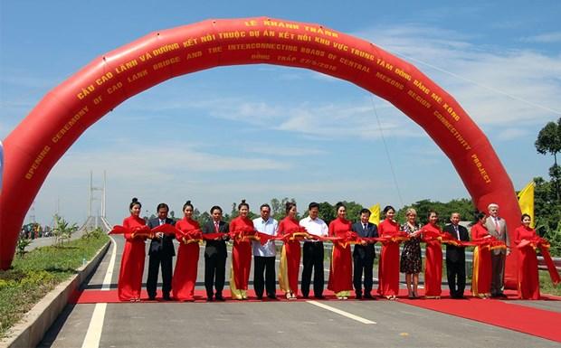 Entra en operacion puente Cao Lanh, simbolo de las relaciones Vietnam- Australia hinh anh 1
