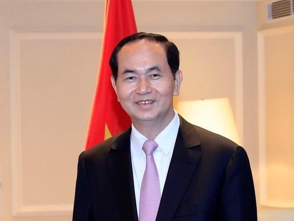 Presidente de Vietnam parte de Hanoi para visita a Japon hinh anh 1