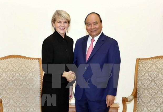 Primer ministro de Vietnam recibe a la canciller de Australia hinh anh 1