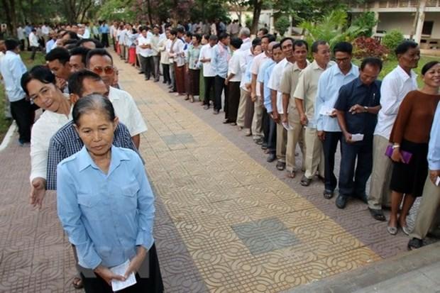 Camboya realiza toma de numero de pedido para elecciones generales hinh anh 1