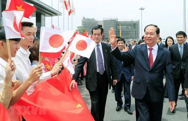 Presidente de Vietnam visita prefectura japonesa Gunma hinh anh 1