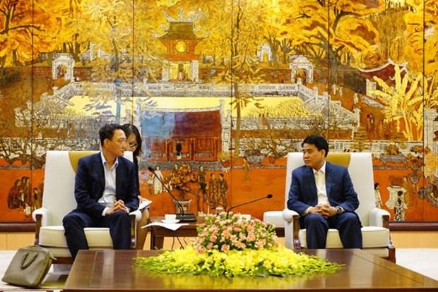Hanoi aspira a impulsar proyectos de inversion con Sudcorea hinh anh 1