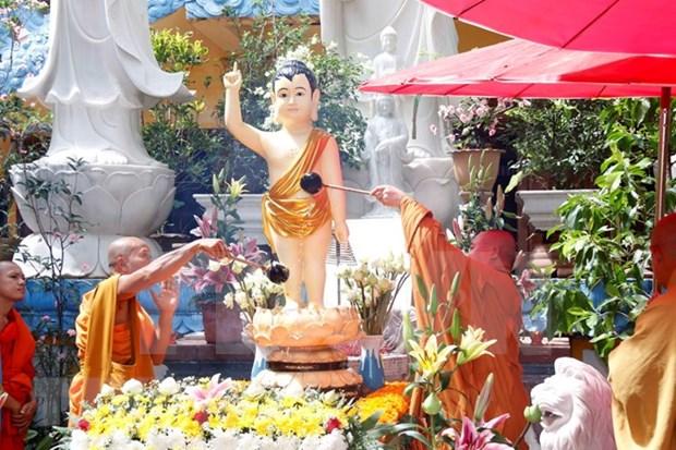 Comunidades vietnamitas en Laos y Republica Checa celebran Dia de Vesak hinh anh 1
