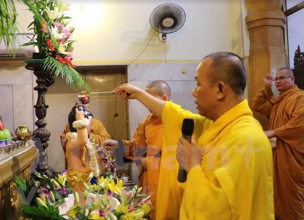 Festeja comunidad vietnamita en la India el Dia de Vesak hinh anh 1