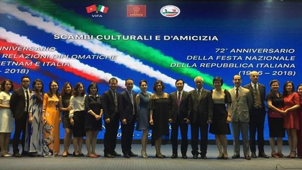 Conmemoran en Hanoi Fiesta de la Republica Italiana hinh anh 1
