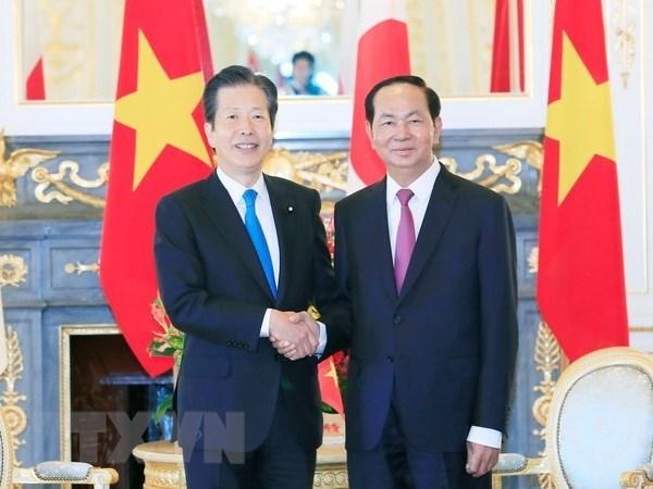 Presidente vietnamita se reune con el titular del Partido Komei de Japon hinh anh 1