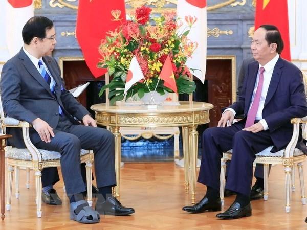 Presidente vietnamita resalta nexos de su pais en Japon hinh anh 1