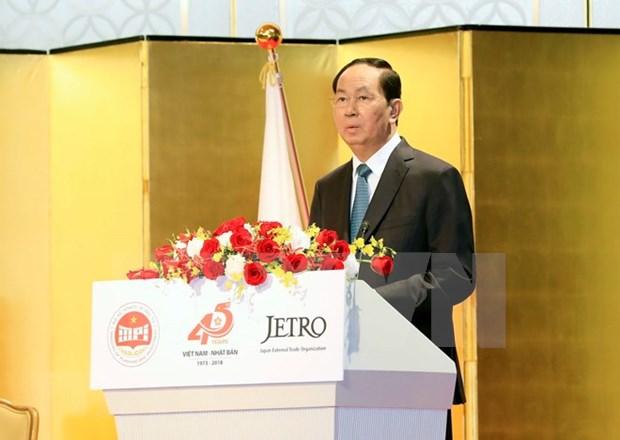 Empresas japonesas son complemento economico estrategico de Vietnam, afirma presidente hinh anh 1
