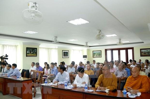 Fortalecen comunidad de vietnamitas en Laos a traves de vinculos religiosos hinh anh 1