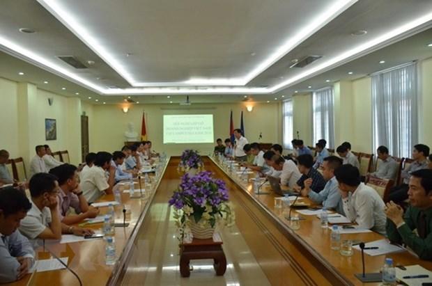 Empresas vietnamitas contribuyen al desarrollo de Camboya hinh anh 1