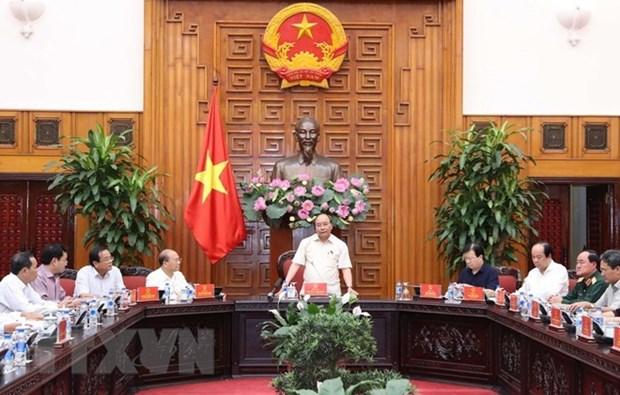 Premier vietnamita se reune con autoridades de provincias centrales hinh anh 1
