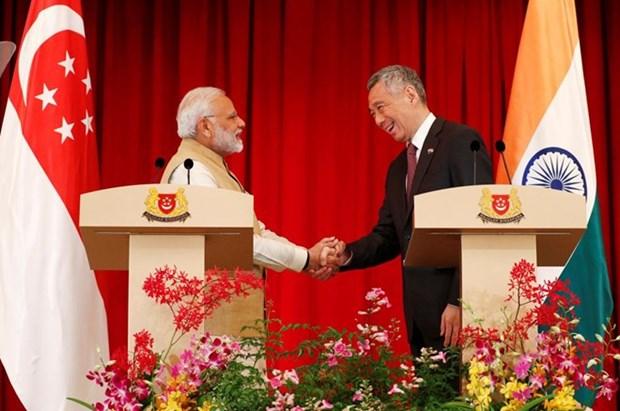 India y Singapur acuerdan potenciar cooperacion en economia y defensa hinh anh 1