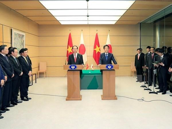 Presidente de Vietnam propone asitencia de Japon en infraestructura hinh anh 1