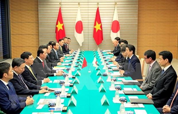 Vietnam y Japon decididos a elevar eficiencia de cooperacion multifacetica hinh anh 1