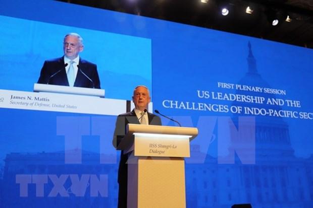 Dialogo Shangri- La: Estados Unidos preocupa por actividades de China en Mar del Este hinh anh 1