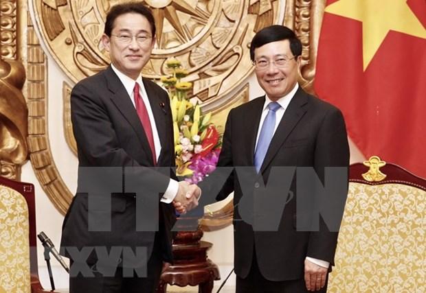 Vicepremier y canciller de Vietnam destaca apoyo de Japon hinh anh 1