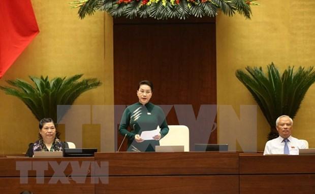 Asamblea Nacional de Vietnam inicia sesiones de interpelacion a miembros del gobierno hinh anh 1