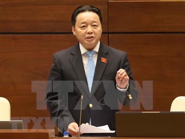 Parlamentarios vietnamitas satisfechos con interpelacion del ministro de Recursos Humanos y Medio Ambiente hinh anh 1