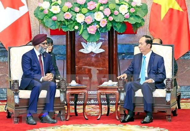 Presidente de Vietnam respalda cooperacion en defensa con Canada hinh anh 1