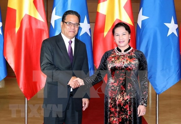Robustecen Vietnam y Micronesia nexos bilaterales hinh anh 1
