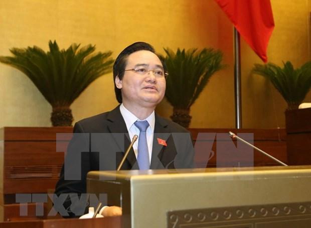 Ministro de Educacion y Formacion de Vietnam comparecera ante el Parlamento hinh anh 1