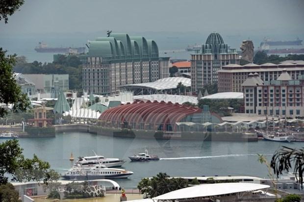 Singapur amplia area especial para cumbre Trump-Kim hinh anh 1