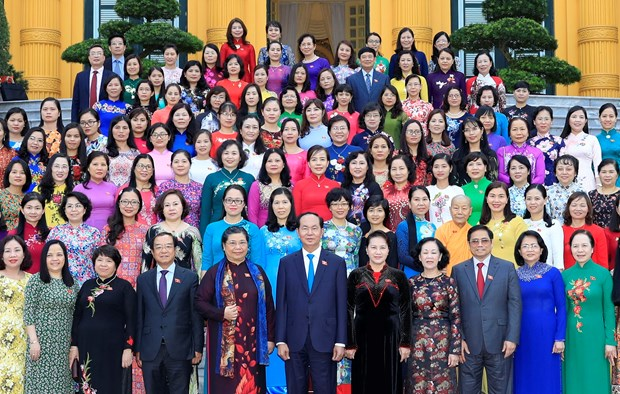 Presidente de Vietnam resalta aportes de diputadas al desarrollo nacional hinh anh 1