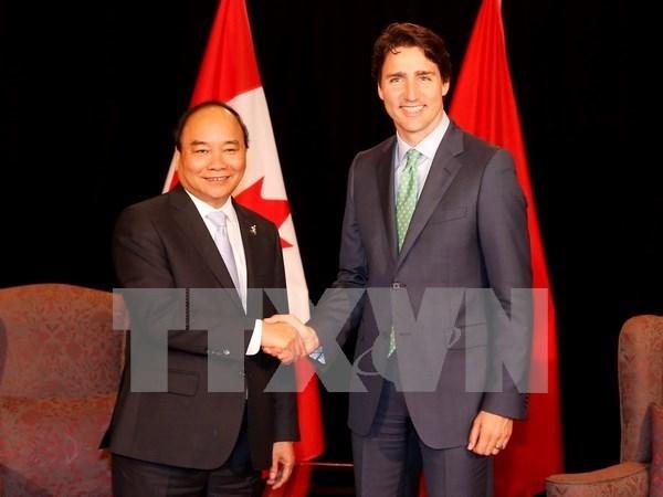 Aprovechan Vietnam y Canada oportunidades para promover intercambio comercial hinh anh 1